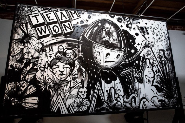 The  nished product from the #SecretWalls Battle of the Agencies.